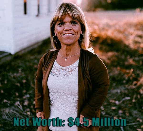 Image of Actor, Amy Roloff net worth is $4.5 million