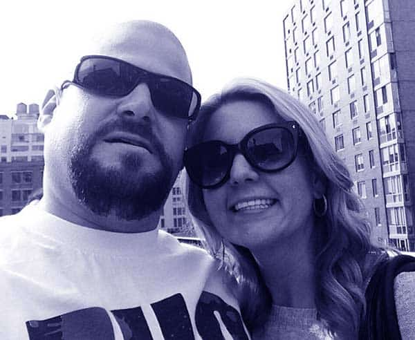 Image of Brandi Passante with her husband Jarrod Schulz