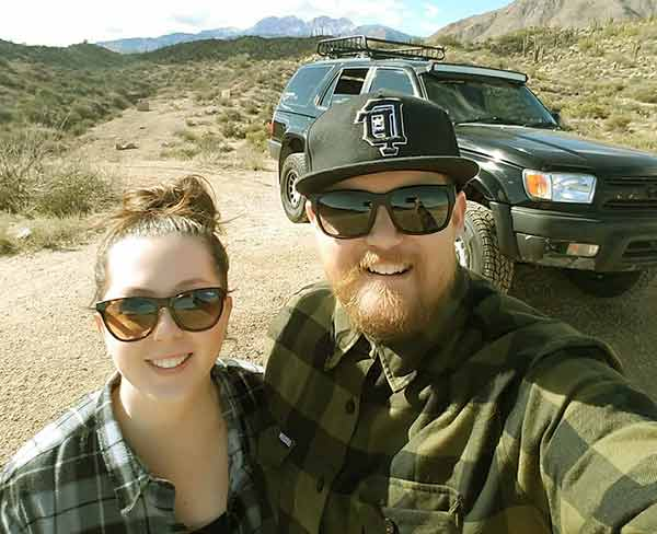 Image of Brandon Sheet with his wife Melissa Sheets.
