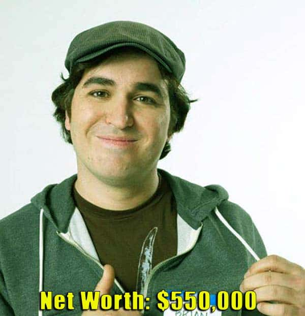 Image of Impractical Jokers cast Brian Quinn net worth is $550,000