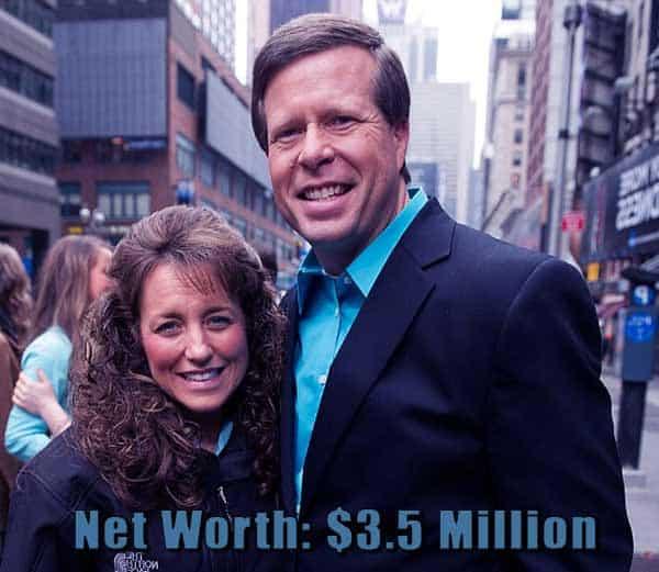 Image of Jim Bob and Michelle Duggar net worth is $3.5 million