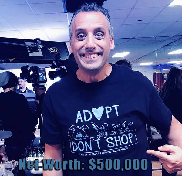 Image of Impractical Jokers cast Joe Gatto net worth is $500,000
