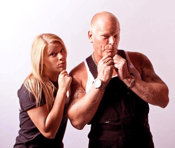 Image of Sherry Holmes with his father Mike Holmes