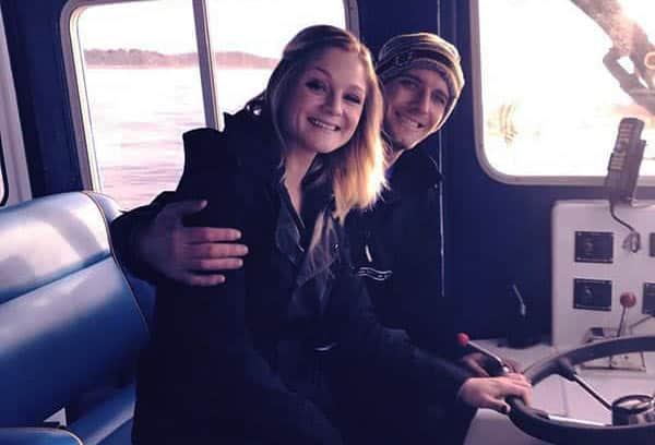 Image of Tyler McLaughlin with his girlfriend Savannah Tapley