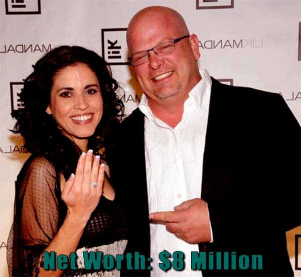 Image of Pawn Stars cast Deanna and Rick networth is $8 million.