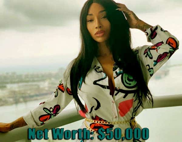 Image of Black Ink Crew cast Sky net worth is $50,000