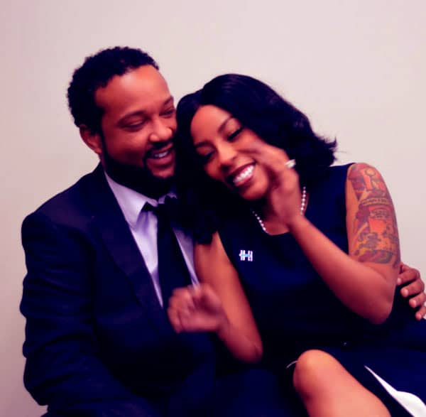 Image of K Michelle with her husband Dr. Kastan Sims