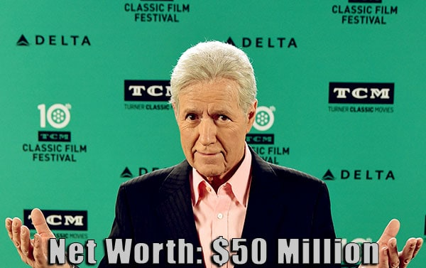 Image of American TV personality, Alex Trebek net worth is $50 million