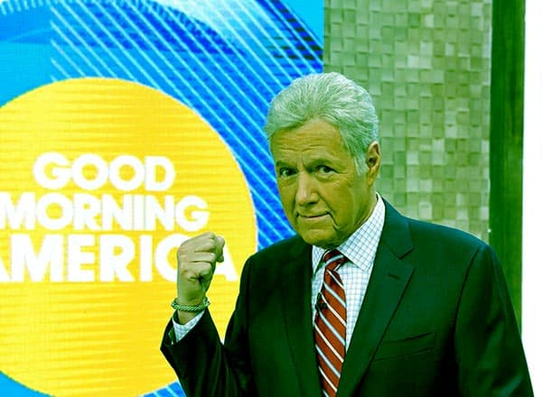 Image of Alex Trebek from the American game show, The Wizard of Odds