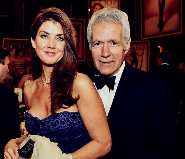 Image of Alex Trebek with his wife Jean Currivan