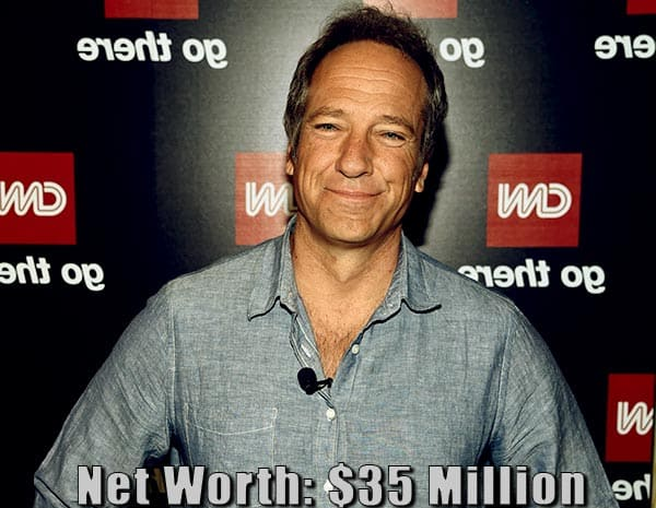 Image of American television host, Mike Rowe net worth is $35 million
