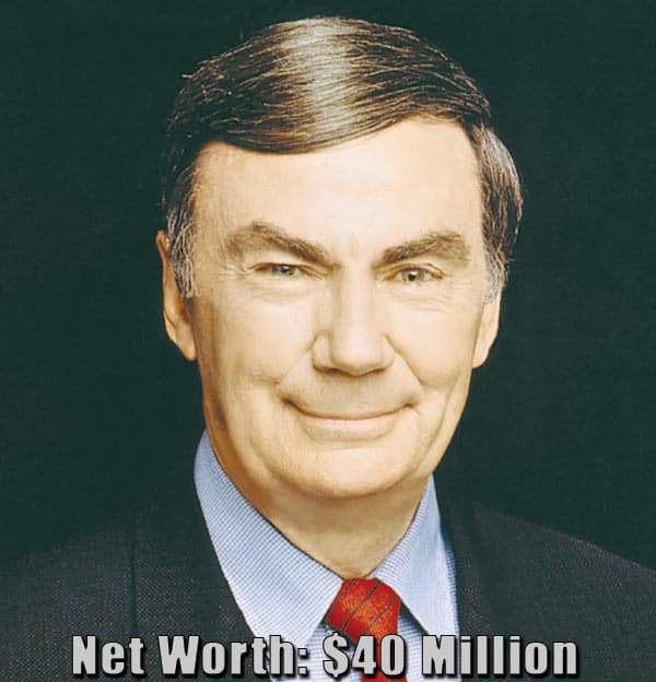 Image of American reporter, Sam Donaldson net worth is $40 million
