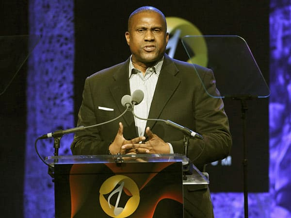 Image of Tavis Smiley from the American talk show, The Tavis Smiley Show.
