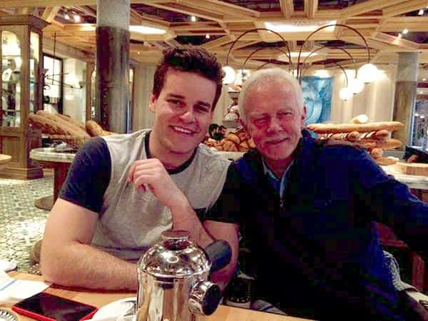Image of Adam Wylde with his father Ken Lyfford