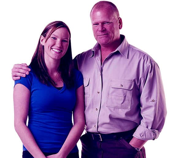 Image of Amanda Holmes and her father Mike Holmes