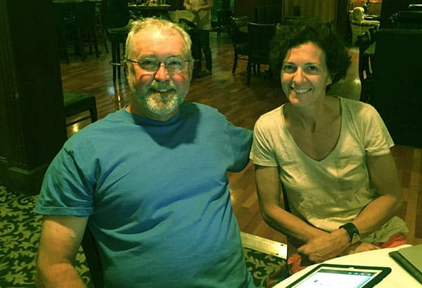 Image of Mike Whiteside and his wife Susie Farriss