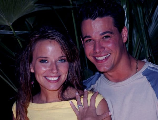 Image of Amber Brkich with her husband Rob Mariano