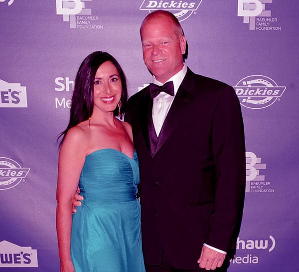 Image of Mike Holmes with Anna Zapia who he refers as his wife