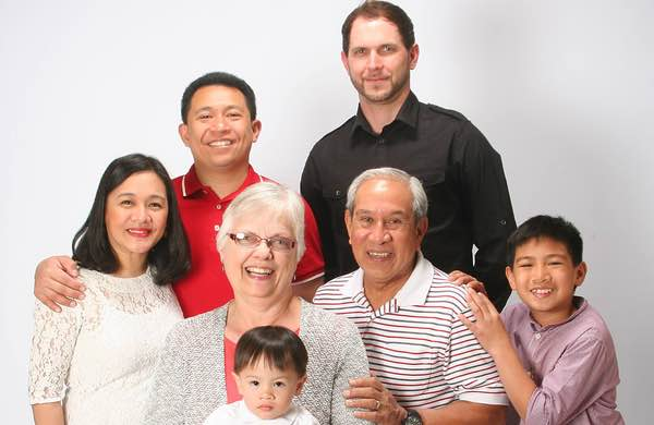 Image of Matthew Anderson TV Personality with is mother, and family.