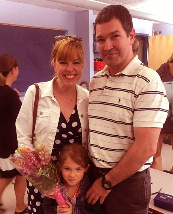 Image of Amy Bruni with her husband Jimmy and daughter Charlotte
