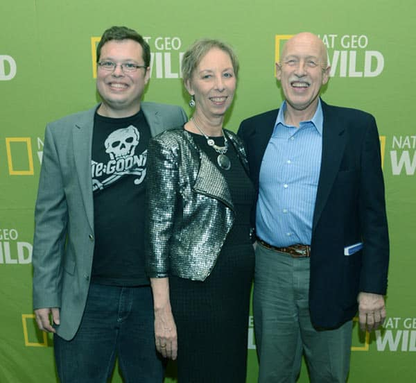 Image of Charles Pol with his parents Dr. Jan Pol and Diane Pol