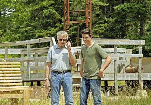 Image of Caption: Drake Tester with his father Craig Tester