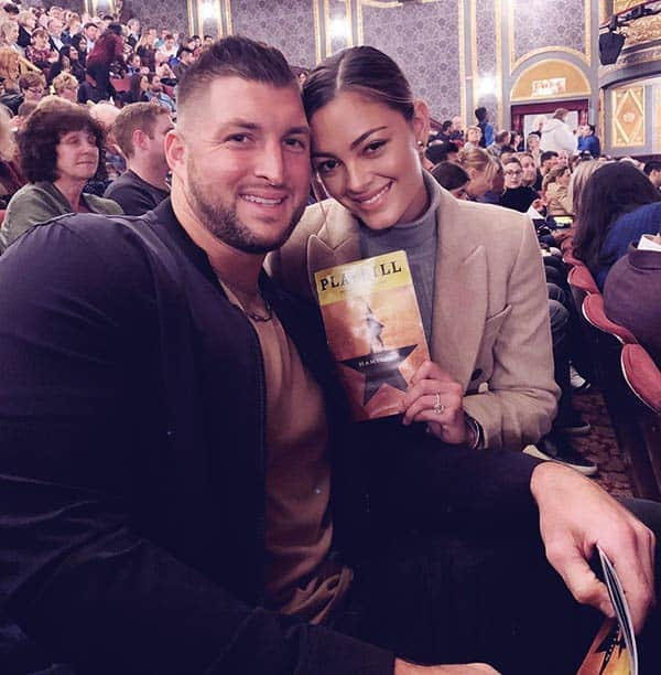 Image of Caption: Demi-Leigh with her husband Tim Tebow