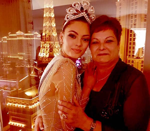 Image of Caption: Demi-Leigh with her mother Anne-Mari Steenkamp