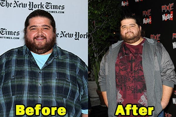 Image of Caption: Actor, Jorge Garcia weight loss before and after