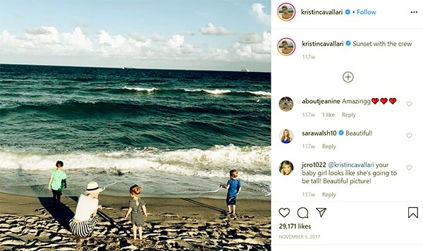 Image of Caption: Kristin Cavallari with her kids