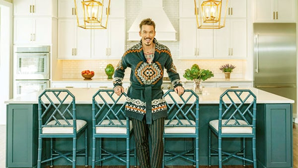 Image of Caption: David Bromstad house include widely spaced kitchen