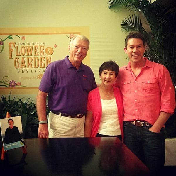 Image of Caption: David with his father Richard Harlod David and mother Diane Marlys Bromstad