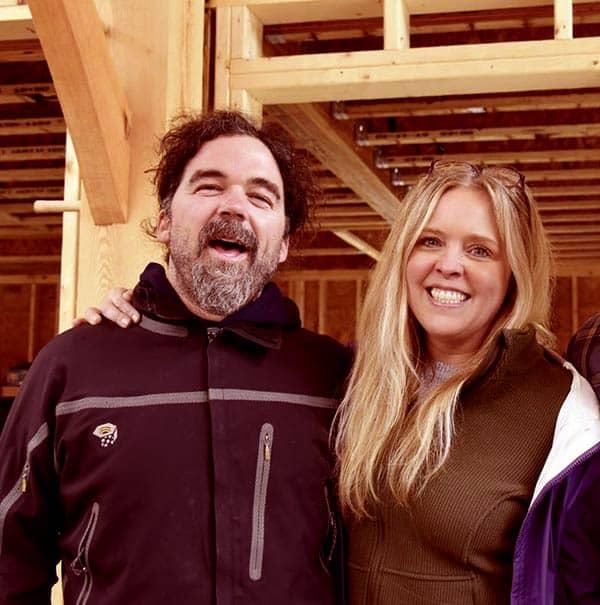 Image of Caption: Ashley Morrill with her husband Ryan Eldrige
