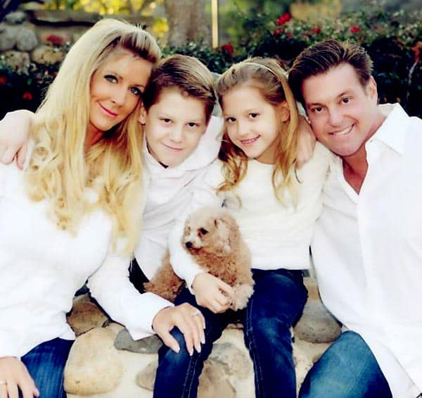 Image of Chip with wife Lynne along with their kids Brock and Katie