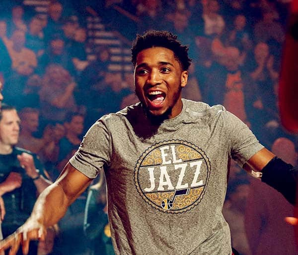 Image of Caption:American basketball player Donovan Mitchell tested positive for Corona Virus.