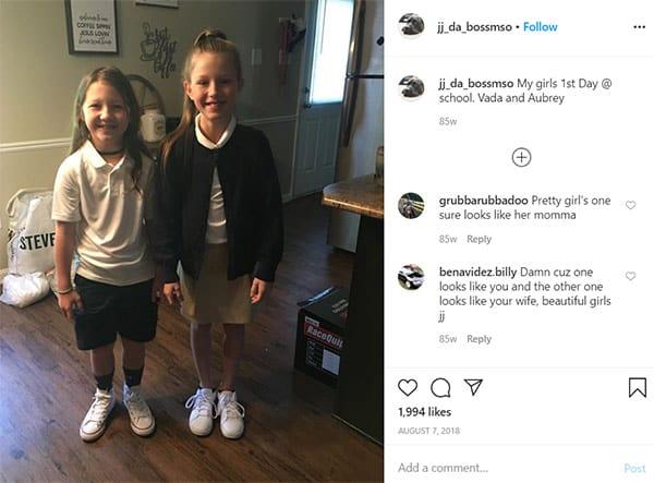 Image of JJ Da Boss daughters Aubrey and Vada