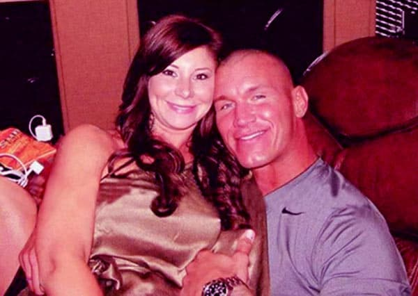 Image of Caption: Randy Orton with his first wife Samantha Speno