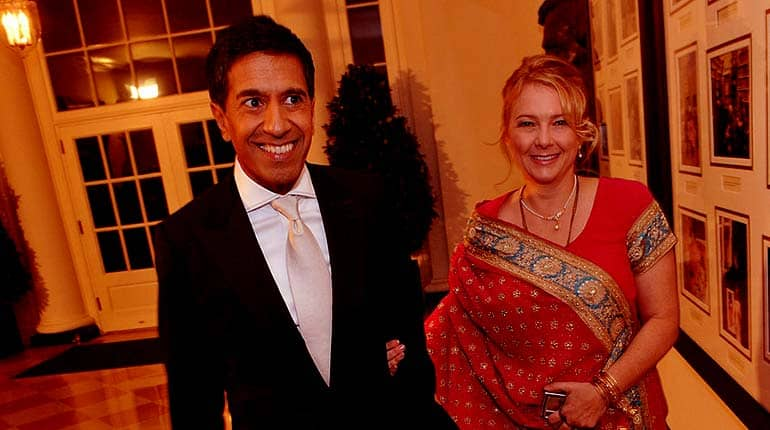 Image of Rebecca Olson Gupta (Dr. Sanjay Gupta's Wife) age, biography and every fact you should know