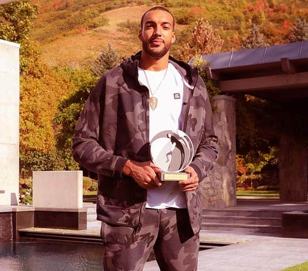 Image of Caption: French basketball player Rudy Gobert tested positive for Corona Virus.