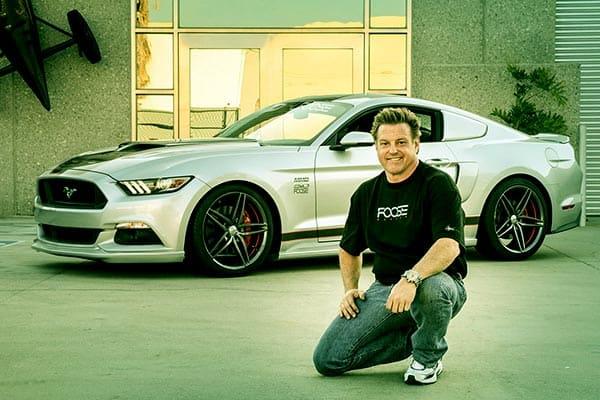 Image of Designer, Chip Foose with his car