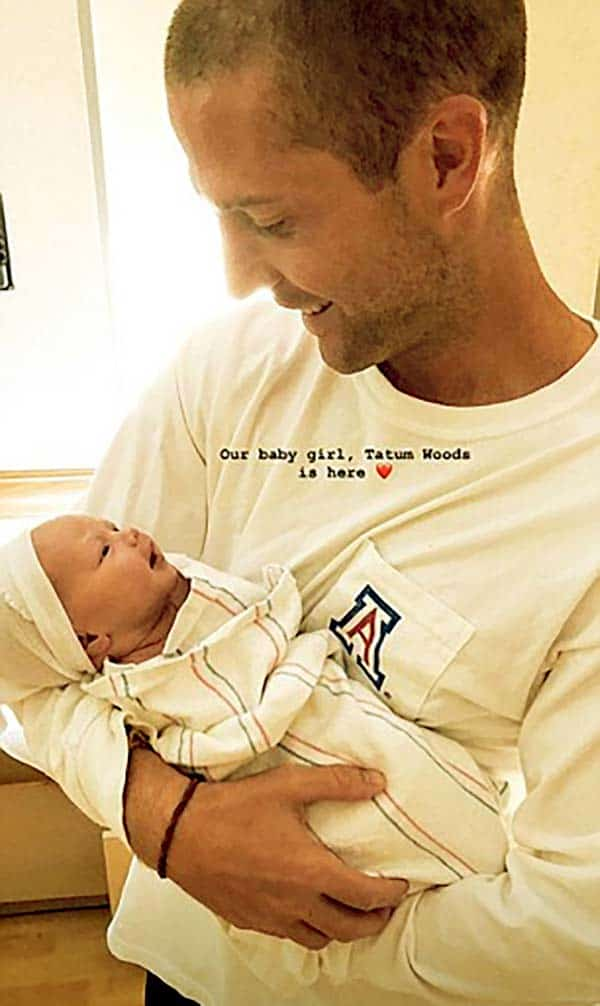 Image of Caption: Kevin with his daughter Tatum Wood