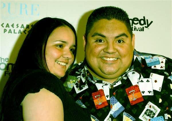 Image of Caption: Gabriel Iglesias with Claudia Valdez