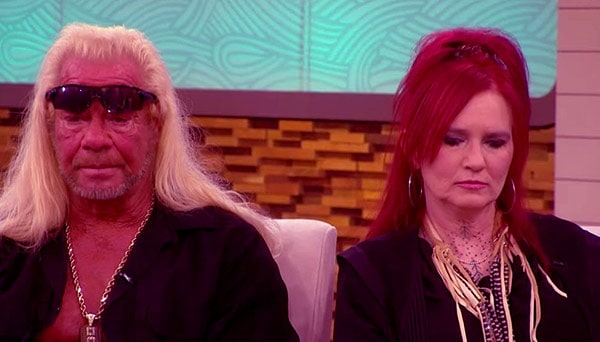 Image of Caption: Moon Angell with her boyfriend Duane Chapman