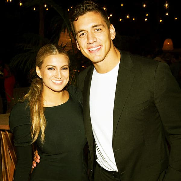 Image of Caption: Tori Kelly with her husband Andre Murillo