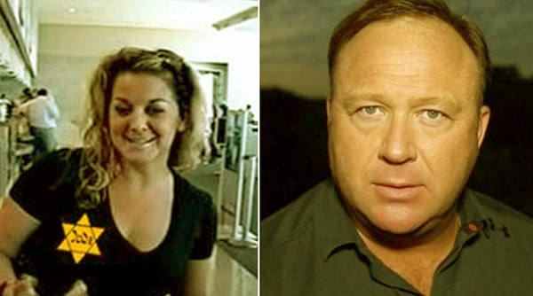 Image of Caption: Kelly Rebecca Nichols and her ex-husband Alex Jones