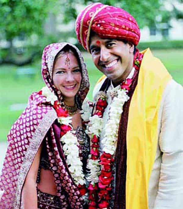 Image of Caption: Rebecca Olson got married with Dr. Sanjay Gupta in May 15th, 2004