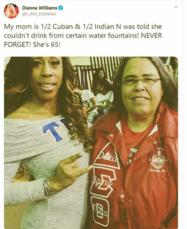 Image of Caption: Dianna Williams with her mother Gladys