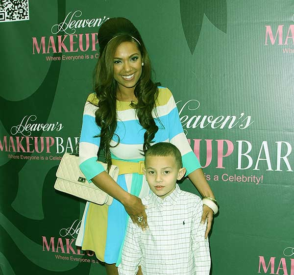 Image of Caption: King Conde with his mother Erica Mena