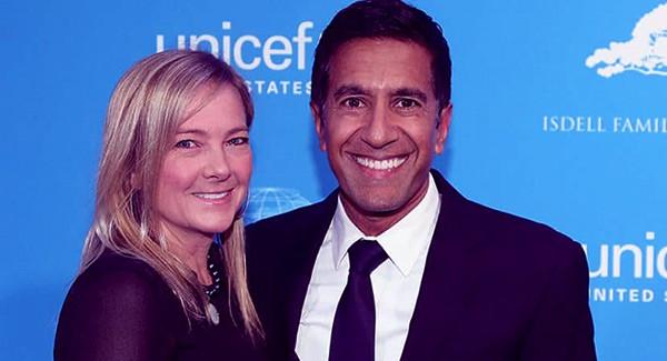 Image of Caption: Rebecca Olson and Dr. Sanjay Gupta net worth