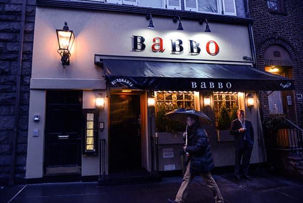 Image of Caption: Mario Batali restaurant named Babbo